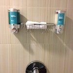 shower bar with bliss products