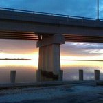 Under The Ponquogue Bridge At Sunset