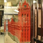 A Lego courthouse building