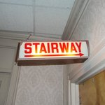 The creepy stairway sign