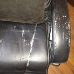 damaged massage chair