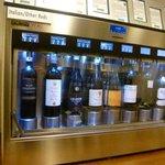 Close-up of a wine sampler cabinet