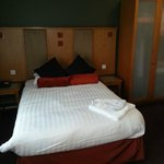 Comfortable bed in room 151