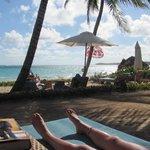 Raised Privaate Beach with hammocks