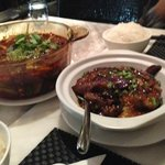 schuwan beef stew and eggplant hot pot