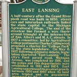 East Lansing/Collegeville historical marker side 1