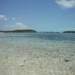 Beautiful warm blue water