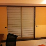 Instead of curtains, you get this japanese sliding windows