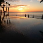Sunrise over the infinity pool and the Sea of Cortez