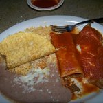 Taco, relleno and enchilada combination