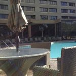 Outdoor pool area, there is an indoor pool as well