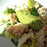 Guacamole & Cornish crab starter. A taste sensation!