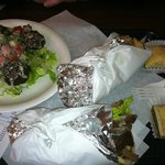 Gyro, Falafel App and Baklava