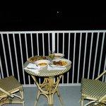 Moonlit dinner - too dark to see the lake