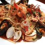 Seafood Combo, with shrimp, mussels, clams and calamari with pasta..