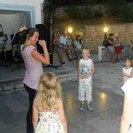Mini disco show voor de kinderen
