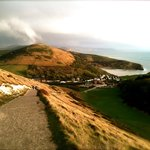 Just a 5 minute walk from Bindon Bottom, then 10 minutes uphill for this view of Lulworth Cove