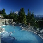 Banff Upper Hot Springs Pool View- Credit Parks Canada, Brenda Falvey