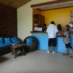 reception area w/ very cheerful service