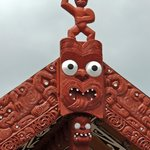 figurehead above the marae