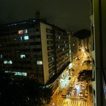 View from window of street below