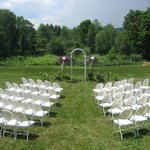 Set up for Liz and Anthony's recent wedding at Centennial House