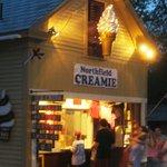 In summer, walk to the local award-winning Creamie