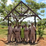 Gardening Team who helped create new Function Area