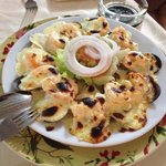 Mussells with King Prawns, Topped with Melted Cheese, Grilled, its Yummy