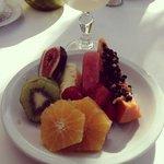 Frutas del desayuno buffet