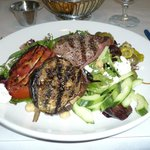 Grilled lamb Greek salad