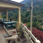 Hacienda Main Building Verandah Rocking Chairs and View!!
