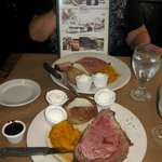 Delicious prime rib, The Common Man, Lincoln, NH