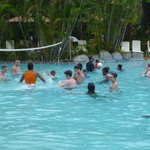 Volley ball in pool