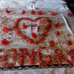 What hotel did to our bed on our wedding anniversary.
