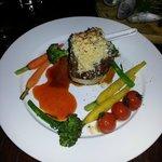 Well cooked Ribeye steak