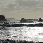 Rocky islands close to shore