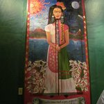 Frida greets you in the lobby