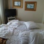 2 camas  unidas y no una king size