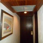 La entrada de la habitacion