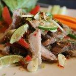 Spicy Pork Neck salad - my favorite!