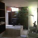 villa solo indoor outdoor bathroom!