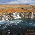 Hraunfoss was especially beautiful in autumn colours.