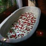The flower bath