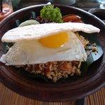 Nasi goreng for breakfast
