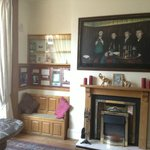Guest lounge ...clean and full of Beatles memorabilia