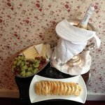 Champagne and Cheese Platter on our Arrival - Rose Room