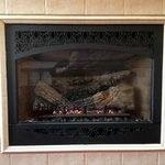 Gas Fireplace in the Rose Room