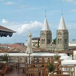 View of Cathedral from rooftop restaurant