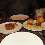 Beef tartar, and Mini Wagyu Burgers